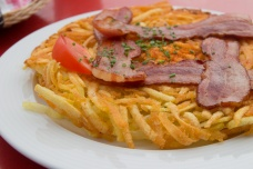 Rosti mit Speck. Need to learn how to make this at home