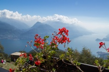 View of Lake Como from the hut