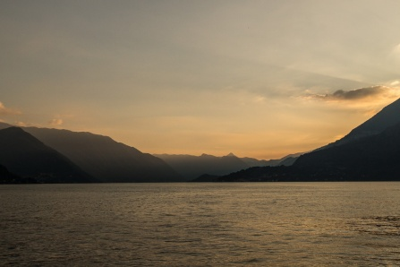Sunset over Lake Como