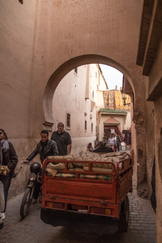 Typical Marrakesh street in the medina