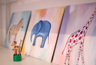 Series of acrylic paints on canvas.