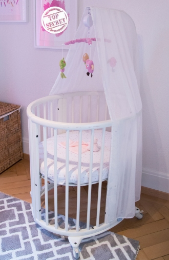 Stokke convertable crib given to us from a dear friend